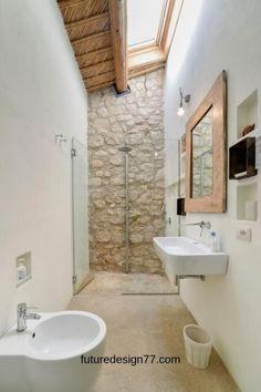 Small Full Bathroom, Bathroom Design Small, Bathroom Interior Design, Master Bathroom, Ideas For Small Bathrooms, Bathroom Design Layout, Bathroom Closet, Modern Bathrooms, Rustic Bathrooms