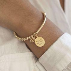 Unique Bracelets, Handmade Bracelets, Beaded Bracelets, Star Pendant, Round Pendant, Stretch Bracelets, Personalized Jewelry, Jewelery, Gold