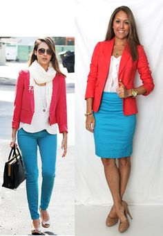 J's Everyday Fashion: Today's Everyday Fashion: The Blue Skirt