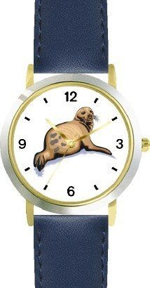 Seal or Sea Lion Animal - WATCHBUDDY® DELUXE TWO-TONE THEME WATCH - Arabic Numbers - Blue Leather Strap-Size-Children's Size-Small ( Boy's Size & Girl's Size ) WatchBuddy. $49.95. Save 38%!