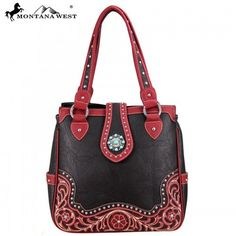 WESTERN CONCHO HANDBAG - COFFEE Fashion Handbags, Tote Handbags, Montana, Turquoise, Shoulder Bag, Wallet, Purses, Accessories, Collection