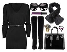 """""""street style"""" by sisaez ❤ liked on Polyvore featuring Miu Miu, Lanvin, Stila, Yves Saint Laurent and By Malene Birger"""