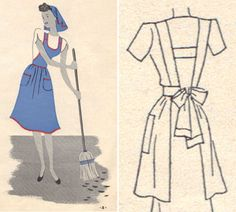 Pattern for the apron style I want. Now if I could sew I'd make 20 aprons!