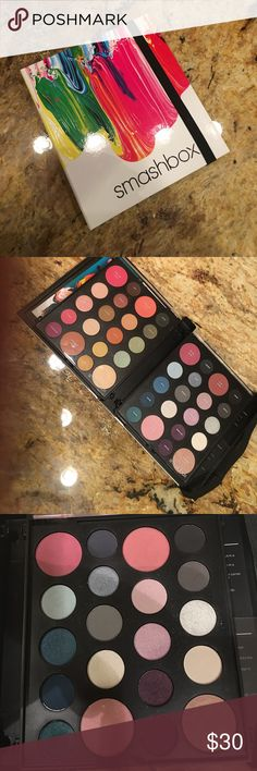 Smashbox Art Love Color masterclass palette In excellent, like new condition.. everything u need is in this palette.. Eyeshadows, blushes and highlighters.. amazing palette. I just have so much makeup that I don't use this one much at all.. used maybe 2 times.. Smashbox Makeup Eyeshadow