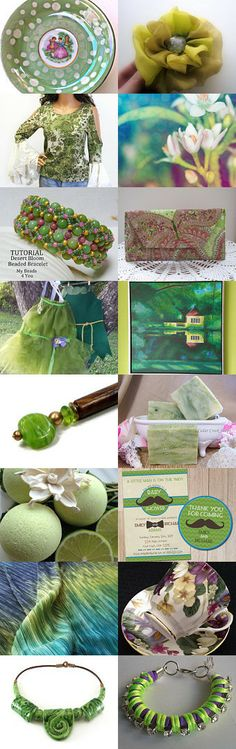 Lovely spring greens... by Phyllis on Etsy--Pinned with TreasuryPin.com