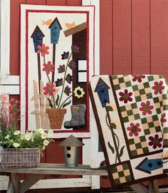 Birdhouses, flowers, and gardening boots - perfect quilts to celebrate spring!