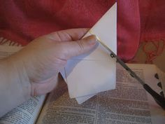"""Use the """"Betsy Ross"""" method to make any size star!  Just fold a piece of paper and make ONLY ONE CUT! House Revivals: Dimensional Five-Pointed Star Tutorial"""