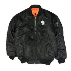 WARM & 3M REFLECTIVE& SHINY AND SEXY.  3M REFLECTIVE REVERSIBLE VISILON 2-SIDEDZIPPER WATER RESISTANT THANK YOU ROSE BLACK SIDE SMILEY CTM ORANGE SIDE SLIM FIT BOMBER JACKET TRUE TO SIZE