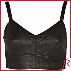 #RihannaforRiverIsland LIMITED EDITION Black Rihanna snake embossed leather bralet. #RIHpintowin click here for more details >  http://www.pinterest.com/pin/115334440431063974/