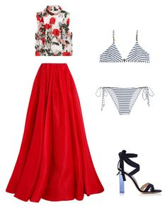 """""""Opals"""" by nataliya-mostriansky on Polyvore featuring Ganni, Reem Acra, Gianvito Rossi and Melissa Odabash"""