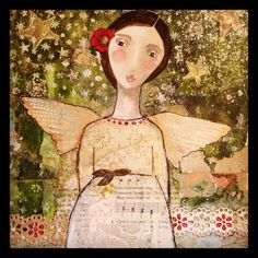 Love the stars in the background~Kelly Rae Roberts art