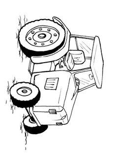 Coloriage tracteur. Images pour l'écoles et l'éducation. Dessins et photos éducatives. Ressources pédagogiques. Dessin 10379.