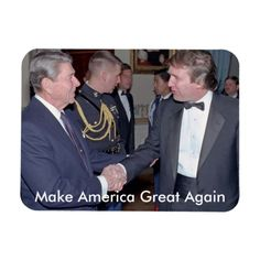 Reagan Trump Make America Great Again Magnet