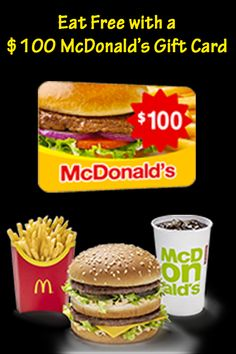Get free McDonald's Gift Card code and buy anything for free on McDonald's. Get Gift Cards, Gift Card Sale, Visa Gift Card, Gift Card Giveaway, Prize Giveaway, Mcdonalds Meme, Free Mcdonalds, Mcdonalds Gift Card, Mcdonalds Breakfast