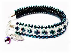 Beaded Bracelets.  Bead Croche Bracelet. Caterpillar Bracelet. Black Beaded Bracelets. Gift for her by MadeByJoLis on Etsy