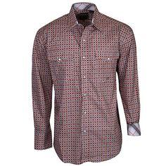 Men's Roper Orange Print Shirt at Maverick Western Wear