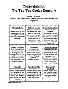 Tic tac toe choice boards on pinterest choice boards for Tic tac toe menu template
