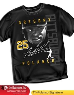GREGORY POLANCO HOT YOUNG PROSPECT PITTSBURGH PIRATES.  HITTING 350 AND STEALING BASES. SIGNATURE SHIRT AVAILABLE