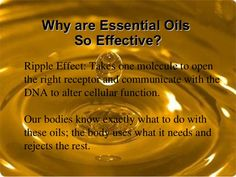 Essential oils…part of the BUDWIG CENTER Protocol.