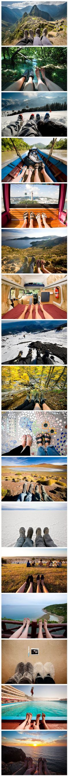 This is a really cute idea to do for any couple to do through out their relationship. Feet First by Tom Robinson LOVEEEE THIS. I'll be starting this with T.J. when we are hiking in Vegas.