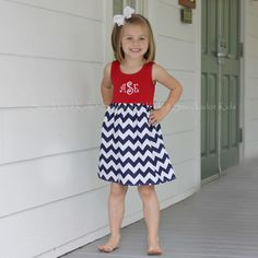 """buy a red tank and sew chevron """"skirt"""" on to it..... love this for 4th of july"""
