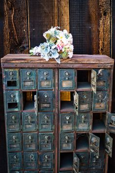 these old postal boxes would be great for my future craft room ;)