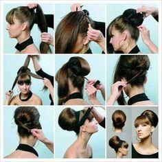 Easy hairstyle for medium/long hair
