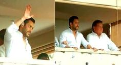 Salman Khan 'waves' a sign of relief to fans - Yahoo Movies India