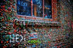 The Seattle Gum Wall - One of the oddest, and most germ infested tourist attractions in the world. Located in Post Alley, under Pike Place Market, this is a must see for Seattle visitors looking for the offbeat attractions that the city has to offer.