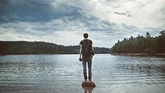 GIF: Standing on a Rock in the Rippling Water   bohemianizm
