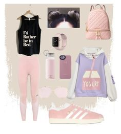 """""""Excercise 🦄🙈"""" by daeniee on Polyvore featuring adidas, adidas Originals, MICHAEL Michael Kors and Kate Spade"""
