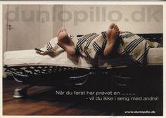 Newbie Card Advertising Postcard, Nar du forst har provet en... (Dunlopillo), 324902