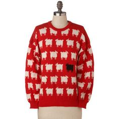 Sheep Sweater.  These were soooo popular for a time in the 80's.