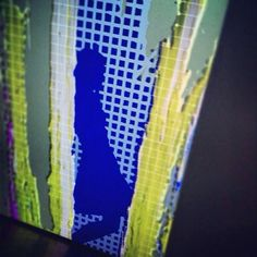 Exhibition #afteRReality by #Pusenkoff & Pusenkoff  (george & ilya) @ Moscow Museum of Modern Art (Moscow MoMA) // between the #digital and #analogue // #interactive #VideoArt #installation // #paintings are #acryl on #canvas // #grid #abstract #ModernArt #color #palette #paint #pixel #shadow