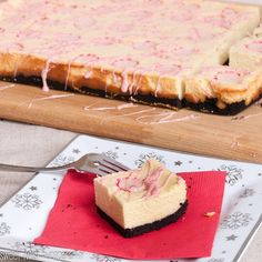 Christmas Desserts! (Candy Cane Cheesecake Bars)
