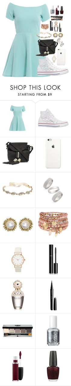 """""""Snow daze"""" by musicwildlife ❤ liked on Polyvore featuring AX Paris, Converse, See by Chloé, Marchesa, Topshop, Kendra Scott, Accessorize, Chanel, Marc Jacobs and Bobbi Brown Cosmetics"""