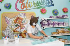 Colorwear Brings the Adult Coloring Book Craze to Downtown Los Angeles at CatCon 2016 - Colorwear | Colorwear