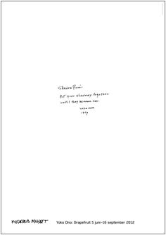 Yoko Ono. Shadow Piece © Yoko Ono 2012 Storlek: 70 x 100 cm. Moderna Museet Webbshop.