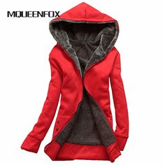 MQUEENFOX Hot Sale Winter Jacket Women Hoodies Long Sleeve Plus Size Thin Parka Mujer Cotton-padded Winter Jacket Hooded -*- AliExpress Affiliate's buyable pin. Details on product can be viewed on www.aliexpress.com by clicking the VISIT button