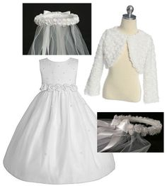 Dresses, Jackets and Veils for the girls First Holy Communion