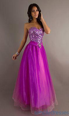 Full Length Strapless Sweetheart Dress at SimplyDresses.com