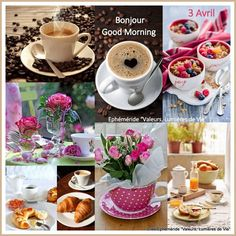 Good Morning Coffee, Good Morning Good Night, Beautiful Day Quotes, Wednesday Coffee, Collages, Word Collage, Beautiful Collage, Good Morning Photos, Decoupage