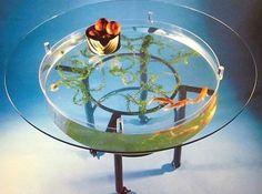 Goldfish bowl coffee table