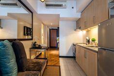 Hip & Cozy Studio in Posh Rockwell - Condominiums for Rent in Makati, NCR, Philippines Studio Type Condo, Studio Type Apartment, Condo Living, Living Area, Condo Interior, Interior Design, College Apartments, Small Condo, Makati