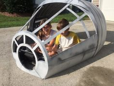 Make An Awesome Millennium Falcon Playhouse On A Budget