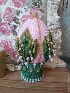 Яйца ручной работы. Ярмарка Мастеров - ручная работа. Купить Яйцо-шкатулка Ландыши. Handmade. Розовый, яйцо ручной работы