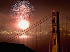 4th of July Fireworks over the bay by the Golden Gate Bridge... where are you headed this July 4th? Here's some of the best spots!