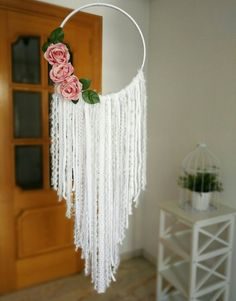 Items similar to Bohemian Pure White Dreamcatcher / Bohemian Pure White Dreamcatcher / White Dreamcatcher / Large Dreamcatcher / Boho Dreamcatcher on Etsy - Dreamcatcher Bohemian Pure White / Bohemian Pure White Dream Catcher Decor, Dream Catcher White, Dream Catcher Boho, Lace Dream Catchers, Diy Crafts For Home Decor, Diy Crafts Hacks, Diy Room Decor, Boho Wall Hanging, Macrame Design