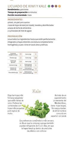 licuado de kiwi y kale