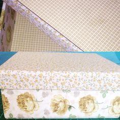 Caixa de mdf Forrada com tecido
